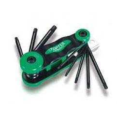 Набор складной ключей TORX: T9-T40 (материал CRV-6150) Toptul AIFB0801