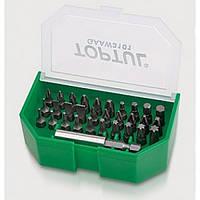 Набор бит 1/4 SL;PH;PZ;TORX;HEX +магнитный держатель 31ед. Toptul GAAW3101