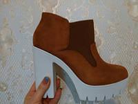 Женские ботинки на тракторной подошве , фото 1