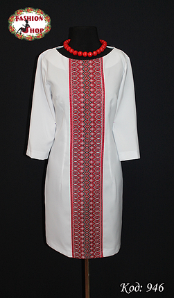 Женское вышитое платье Классика, фото 2