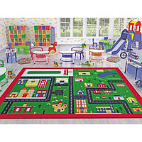 Ковер в детскую комнату Confetti - Town зеленый 133х190