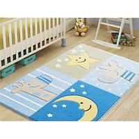 Ковер в детскую комнату Confetti - Sleepy голубой 100х150