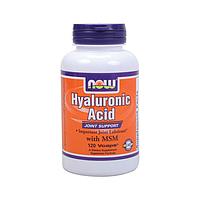 Гиалуроновая кислота с МСМ 120 капс Hyaluronic Acid With MSM США, официальный сайт