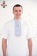 Чоловіча вишиванка Традиційна срібна