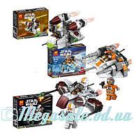 Конструктор Star Wars 3 вида, космический корабль + фигурка: от 79 до 105 деталей