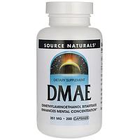Дмаэ DMAE 351 мг 200 таблеток для мозга и памяти США, купить, цена, отзывы