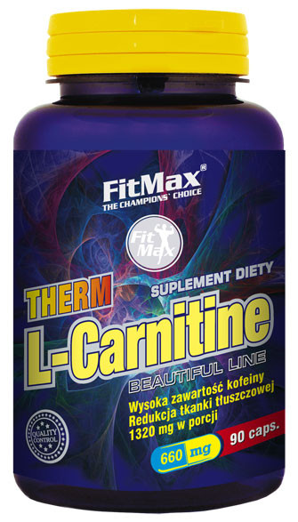 L-карнитин FitMax Therm L-Carnitin (600mg+60mg caffeine) - 90 caps