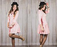 Женское трикотажное  платье А-силуэт