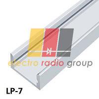Профiль алюм.LED BIOM ЛП7 7х16, анодований (палка 2м)