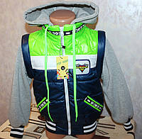 Детская Куртка-жилетка  на мальчика трансформер от 5-8лет, фото 1