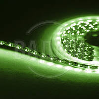 Гибкая светодиодная лента, SMD2835, цвет зелёный, 60 св./м, 4.8 Вт/м, влагозащищенная, M-TEK