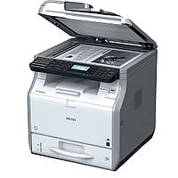 Ricoh SP 3600SF  – МФУ А4 формата, 30 стр./мин, сетевой принтер, цветной сканер, копир, факс G3.