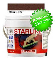 Litokol Starlike C.420 ведро 2,5 кг (мока), эпоксидная двухкомпонентная затирка Старлайк Литокол