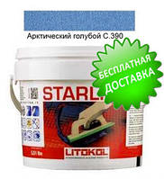 Litokol Starlike C.390 ведро 2,5 кг (арктический голубой), эпоксидная затирка Старлайк Литокол