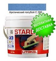 Litokol Starlike C.390 ведро 5 кг (арктический голубой), эпоксидная затирка Старлайк Литокол