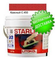 Litokol Starlike C.450 ведро 5 кг (красный), эпоксидная двухкомпонентная затирка Старлайк Литокол, фото 1