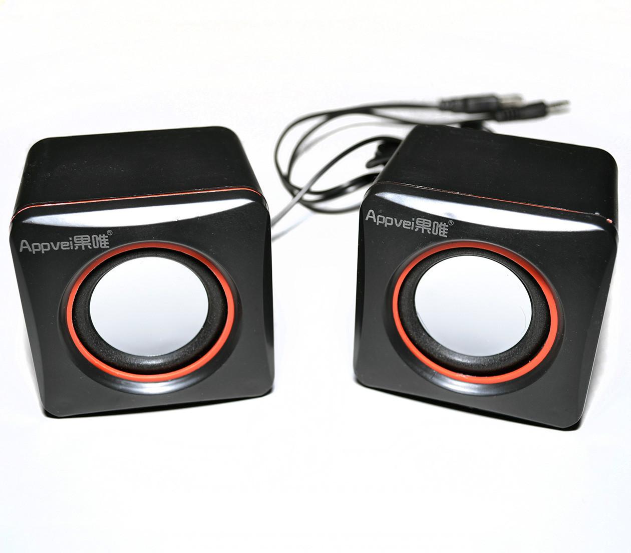Колонки компьютерные, портативные  стерео USB динамики Appvei HT-101C