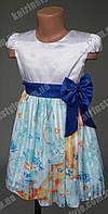 Очаровательное платье для девочек с атласным поясом-бантом