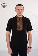 Чоловіча вишиванка Традиційна коричнева, фото 1
