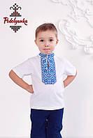 Вишиванка для хлопця Традиційна синя