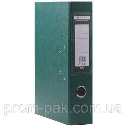 Папка регистратор  А4 Buromax 7см темно-зеленый, фото 2