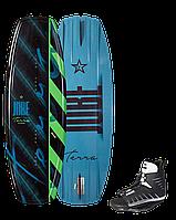 Вейкборд с ботами Terra 124 Junior Wakeboard Set