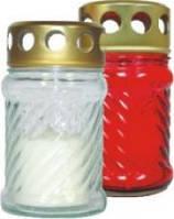 Лампадка стеклянная с запаской красная W002 12 h, 1 шт
