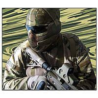 Перчатки тактические полнопалые черные защита костяшек Oakley BE0551UA