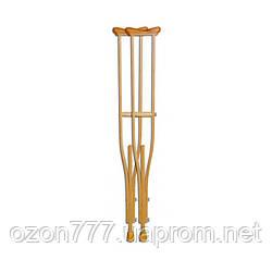 Костыли подмышечные деревянные МИРТА-1 для взрослых №2