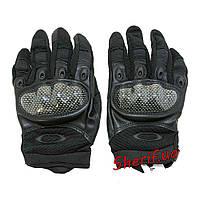 Перчатки тактические полнопалые черные защита костяшек Oakley BE0551UA XL