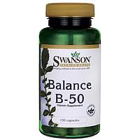 Balance B-50 Complex 100 капсул, комплекс витаминов группы B-50 купить