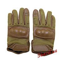 Перчатки тактические полнопалые с защитой костяшек Condor HK221 TAN 221-003