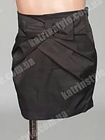 Стильная детская юбка украшенная бантом