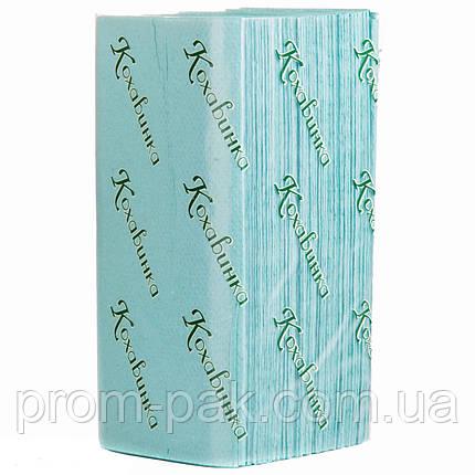 Бумажные полотенца v 160 лист Кохавинка зеленые, фото 2