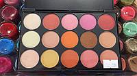Профессиональная палитра для макияжа 15 цветов перламутровые, фото 1