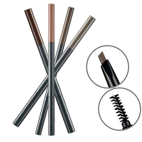 Карандаш для бровей The Face Shop Designing Eyebrow Pencil с щеточкой #02 Gray Brown