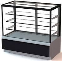 Кондитерская витрина ВХСв-1,3д Carboma Люкс Cube Полюс (холодильная)