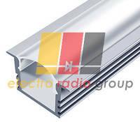 Профиль аллюминиевый LED врезной ЛПВ12 12х16, 2м