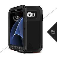 Чехол противоударный Love Mei Gorilla Glass для Samsung Galaxy S7 G930F черный