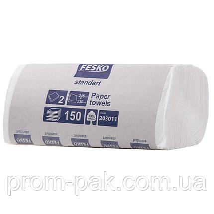 Белые бумажные полотенца в пачках Fesko, фото 2