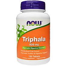 Трифала, Now Foods, 500 мг, 120 таблеток. Сделано в США.