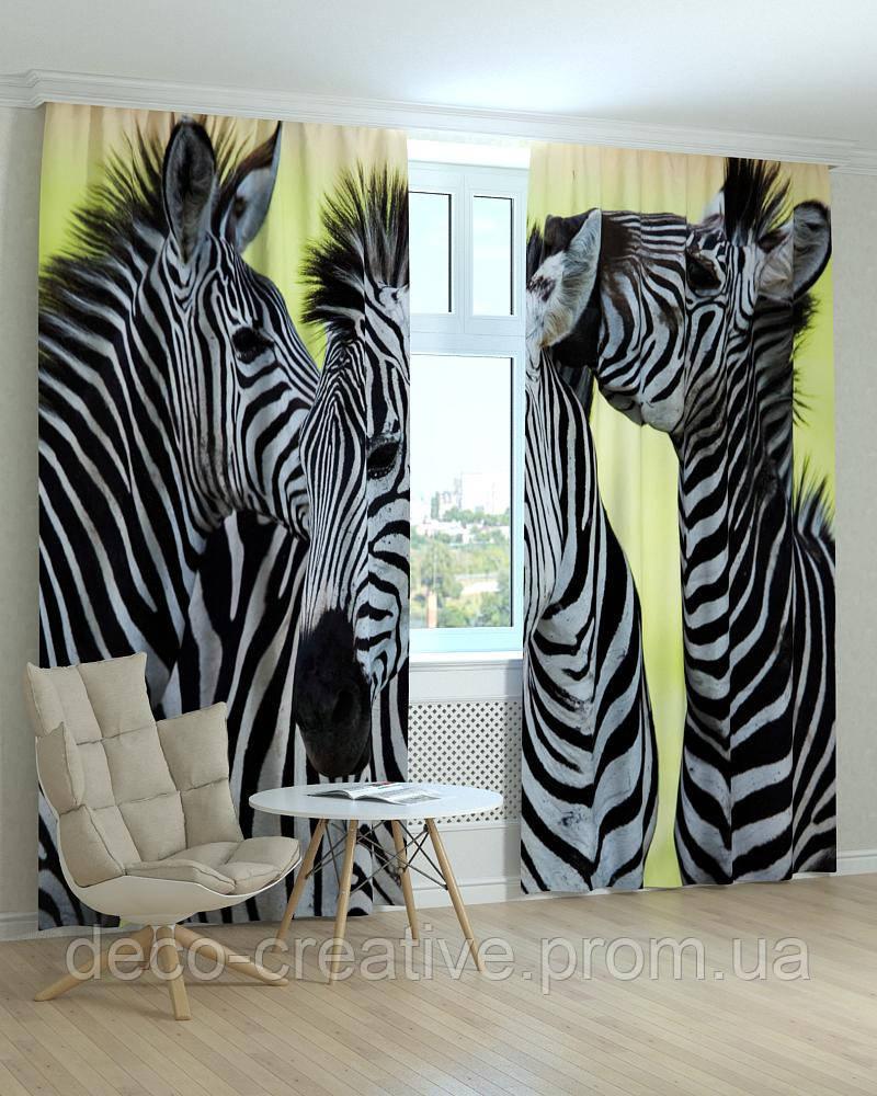 Фотошторы животные зебра комплект