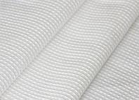 Ткань вафельная -белая , ширина  45см.