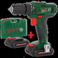Дрель шуруповерт аккумуляторная DWT ABS-10.8 ВLi-2 BMC (1,5 А/ч,10,8 В)