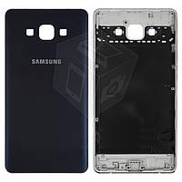 Задняя панель корпуса (крышка) для Samsung Galaxy A7 A700F, синяя, оригинал