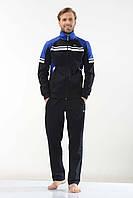 Трикотажный мужской спортивный костюм пр-во Турция FM15961 Dark blue