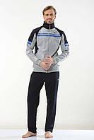 Трикотажный модный мужской спортивный костюм пр-во Турция FM15961 Gray