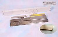 Накладки на пороги Chery BEAT 2011- / Чери Бит standart