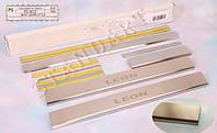 Накладки на пороги Seat LEON III 2013- / Сеат Леон standart