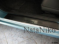 Накладки на пороги Daihatsu SIRION 2008- / Дайхатсу Сирион premium